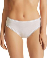 Fine Lines - Pure Cotton High-cut Briefs - Lyst