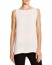 Eileen Fisher - System High/low Silk Tank - Lyst