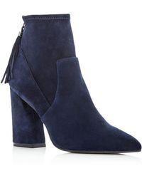 Kenneth Cole - Women's Gracelyn Suede High Heel Booties - Lyst
