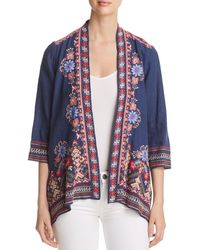 Johnny Was - Frederique Embroidered Linen Open Cardigan - Lyst