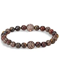 John Hardy - Legends Naga Bronze & Tiger Iron Beaded Bracelet - Lyst