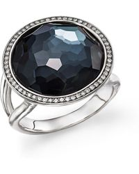 Ippolita - Stella Lollipop Ring In Hematite Doublet With Diamonds In Sterling Silver - Lyst