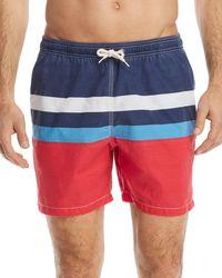 Barbour - Striped Swim Trunks - Lyst