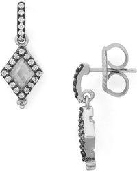 Freida Rothman - Diamond Drop Earrings - Lyst
