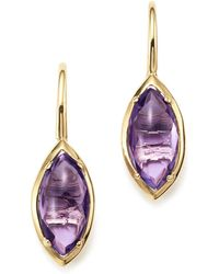 Bloomingdale's - Amethyst Marquise Drop Earrings In 14k Yellow Gold - Lyst
