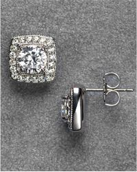 Nadri - Framed Crystal Stud Earrings - Lyst