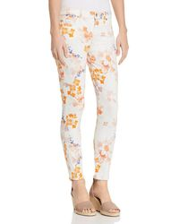 7 For All Mankind - Floral Printed Ankle Skinny Jeans In Loft Garden - Lyst