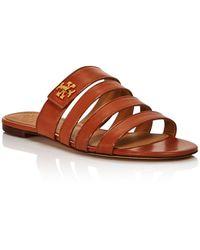 732961da377 Tory Burch - Women s Kira Multi-band Slide Sandals - Lyst