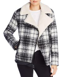 Moon & Meadow - Day-to-night Plaid Moto-style Jacket - Lyst