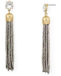 Aqua - Metallic-finish Tassel Drop Earrings - Lyst
