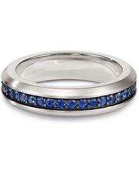 David Yurman - Streamline Band Ring With Sapphires - Lyst