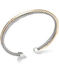 David Yurman - Crossover Bracelet With 18k Yellow Gold - Lyst