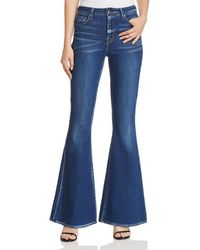 Elie Tahari - Leone Flared Jeans In Light Indigo - Lyst