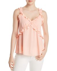 MICHAEL Michael Kors - Ruffled Camisole Top - Lyst