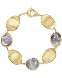 Marco Bicego - 18k Yellow Gold Lunaria Bracelet With Black Mother-of-pearl - Lyst