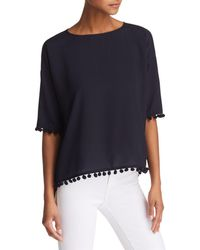 French Connection - Crepe Pom-pom Top - Lyst