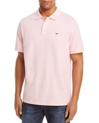 3f57aea0f Lyst - Vineyard Vines  whale Line  Pique Knit Polo in Blue for Men