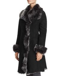 Maximilian - Divine Shearling Coat With Toscana Stand Collar - Lyst