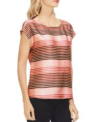 Vince Camuto - Striped Soiree Cap Sleeve Blouse - Lyst