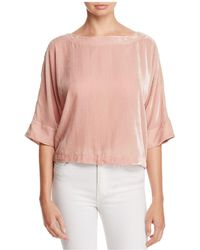 Cupcakes And Cashmere - Kobe Velvet Box Top - Lyst