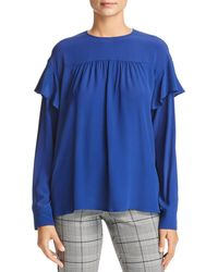 Marella - Doge Shirred Ruffled Top - Lyst