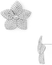 Kate Spade - Pavé Bloom Statement Earrings - Lyst