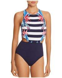 Tommy Bahama - Palms High Neck One Piece Swimsuit - Lyst