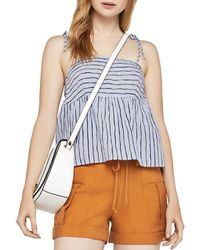 BCBGeneration - Flounced Striped Top - Lyst