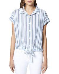 Sanctuary - Borrego Striped Tie-waist Top - Lyst