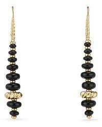 David Yurman - Rio Rondelle Drop Earrings In 18k Gold - Lyst