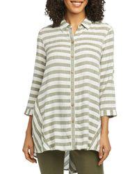 Foxcroft - Shirlyn Striped High/low Tunic Shirt - Lyst