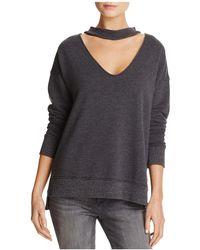 Joe's Jeans - Sofie Cutout-neck Sweatshirt - Lyst