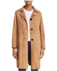 Theory - Piazza Suede Coat - Lyst