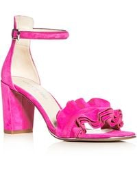 Kenneth Cole - Women's Langley Suede Ankle Strap High Heel Sandals - Lyst