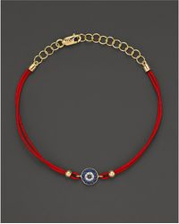 Meira T - Blue Sapphire And 14k Yellow Gold Evil Eye Bracelet - Lyst