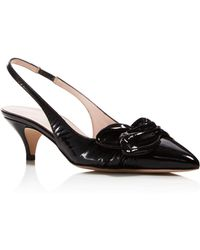 Kate Spade - Women's Ophelia Patent Leather Slingback Court Shoes - Lyst