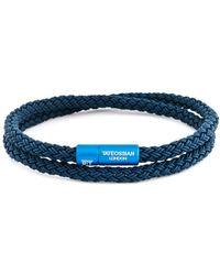 Tateossian - Men's Braided Rubber Double-wrap Bracelet - Lyst
