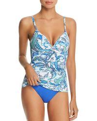91263935211 Ralph Lauren Lauren Beach Club Solid Loop Front One Piece Swimsuit in Red -  Lyst
