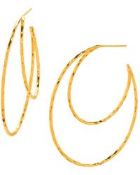 Gorjana - Waverly Profile Hoop Earrings - Lyst