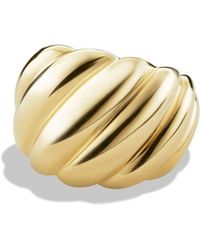 David Yurman - Hampton Cable Ring In Gold - Lyst