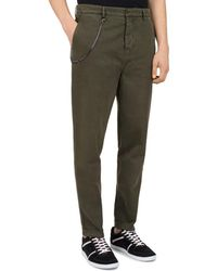 The Kooples - Chain-accent Relaxed Fit Chino Trousers - Lyst