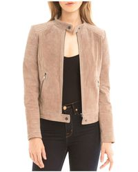 BAGATELLE.NYC - Quilted Suede Moto Jacket - Lyst