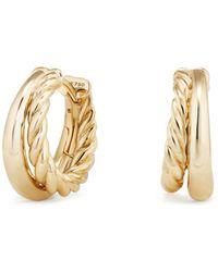 David Yurman - Pure Form Hoop Earrings In 18k Gold - Lyst