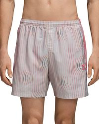adidas Originals - Warped Stripes Swim Trunks - Lyst