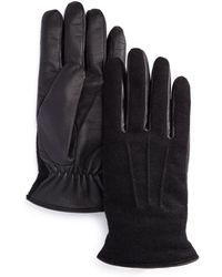 Bloomingdale's - Wool-and-leather Tech Gloves - Lyst