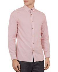 Ted Baker - Hiena Polynosic Geometric Print Slim Fit Shirt - Lyst