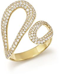 Ippolita - 18k Yellow Gold Cherish Diamond Bypass Ring - Lyst