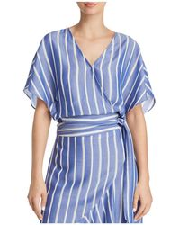 Lucy Paris - Sophie Striped Cropped Wrap Top - Lyst