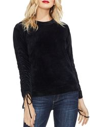 Vince Camuto - Drawstring-sleeve Velour Top - Lyst