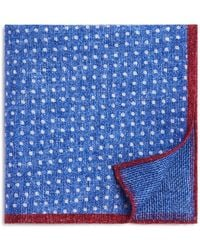 Bloomingdale's - Dot/box Weave Pocket Square - Lyst